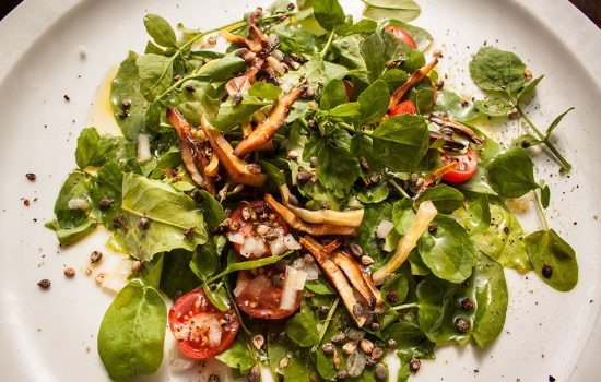 Spätsommerlicher Wildkräutersalat