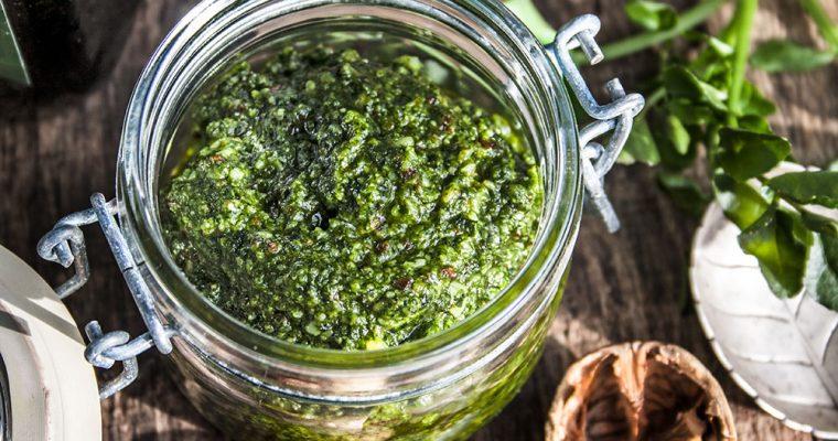Brunnenkresse-Pesto