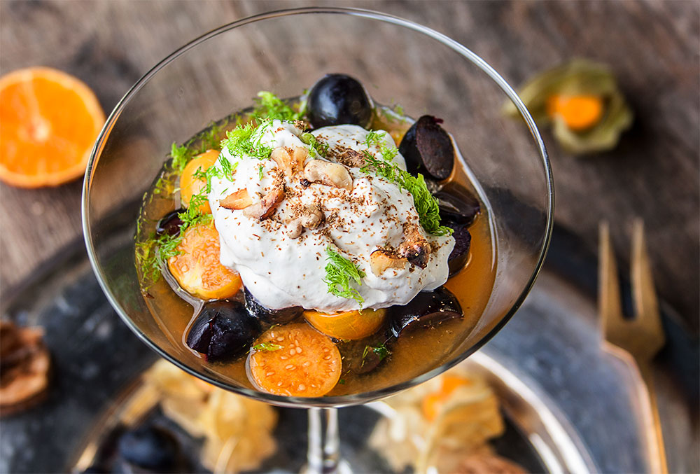 Physalis-Trauben-Salat