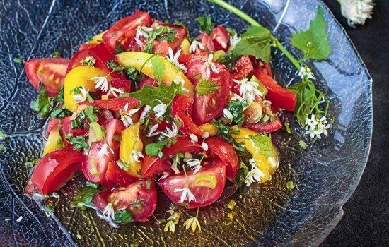 Paprika-Tomatensalat